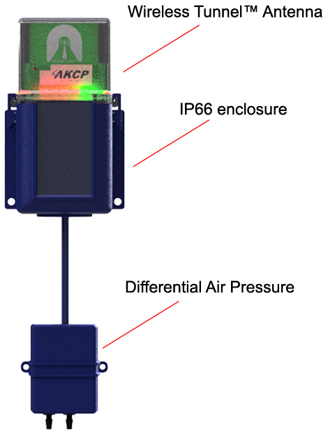 Wireless Differential Air Pressure used for cleanroom monitoring